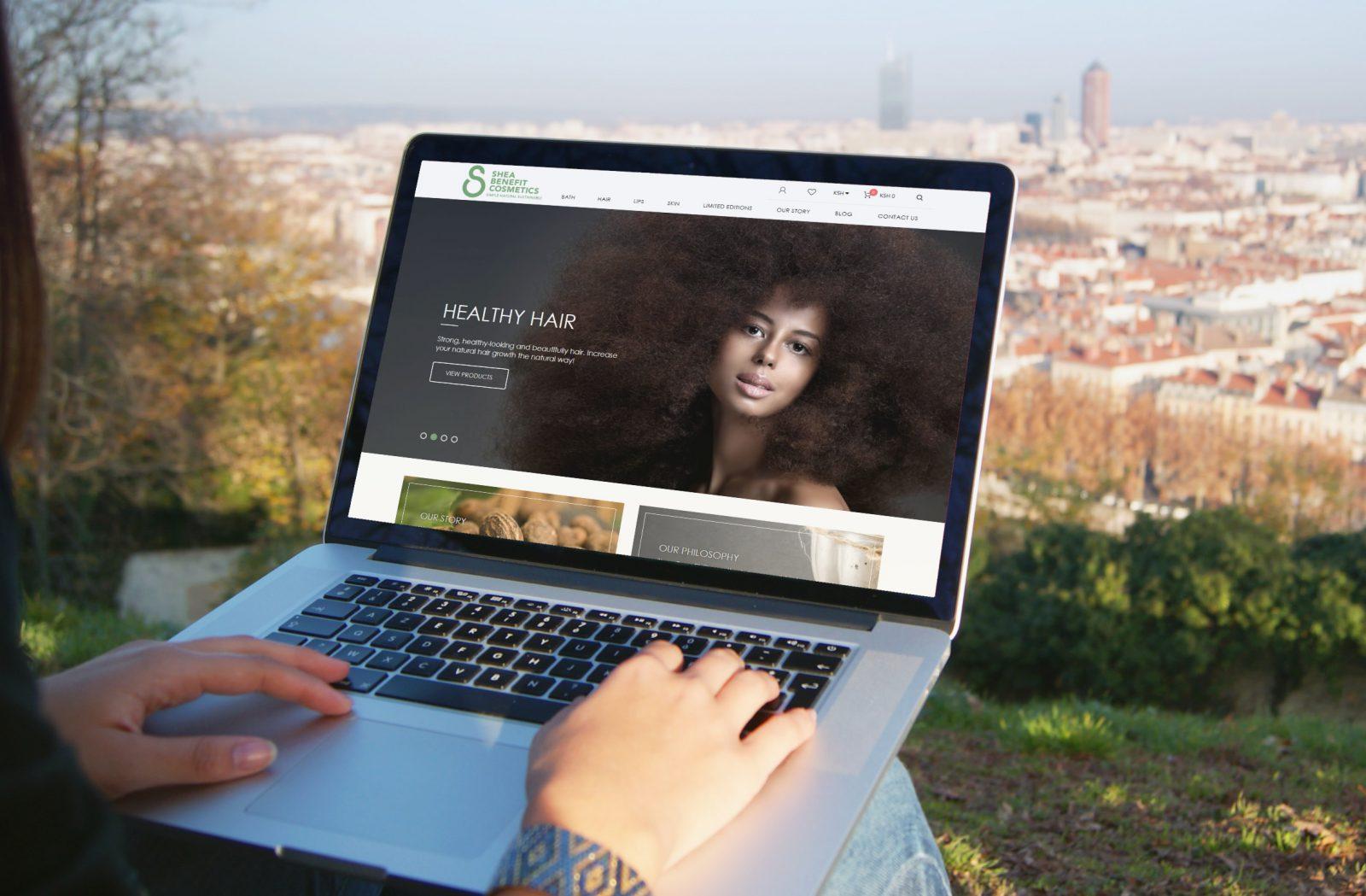 Shea Benefit Cosmetics home page